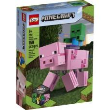 LEGO® Minecraft™ BigFig kiaulė su zombiuku 21157