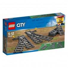 LEGO City Trains Bėgių perjungimai 60238 DEFORMUOTA PAKUOTĖ (Detalės sveikos)