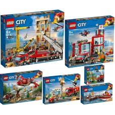 LEGO CITY Gaisrinės PILNA KOLEKCIJA 60217 60216 60215 60214 60213 60212