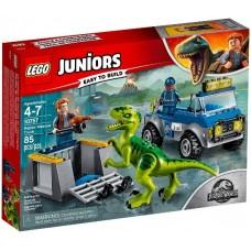 LEGO JUNIORS I Gelbėtojų sunkvežimis raptorio pervežimui I 10757