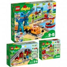 LEGO DUPLO Krovininių traukinių rinkinys 10875+10872+10882