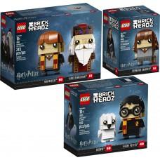 LEGO BRICK HEADZ I Haris Poteris ir pelėda I 41615 + Hermiona I 41616 +Ronis ir Dumbuldoras I 41621