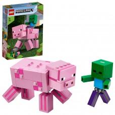 LEGO Minecraft™ Kiaulė BigFig ir Zombiukas  21157