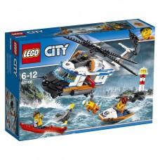 LEGO® City Coast Guard | Sunkusis gelbėjimo sraigtasparnis | 60166