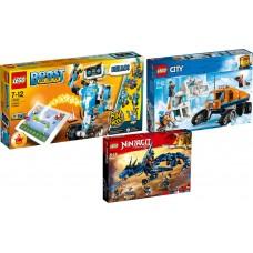 LEGO® BOOST | Kūrybinė įrankių dėžė | 17101 + Ledo apžvalgos sunkvežimis | 60194 + Ninjago I Audros pranašas I 70652