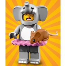 LEGO Vakarėlis  serija 18  I Mergaitė Drambliuko Kostiumu I 71021- 1