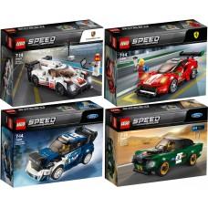 LEGO Speed Champions  I RINKINYS I 75884+75885+75886+75887