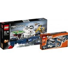LEGO® Technic | Paieškų laivas 42064 + 8293 Motorizuotų įrenginių rinkinys