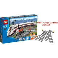 LEGO City Greitasis keleivinis traukinys 60051 + Bėgių perjungimas