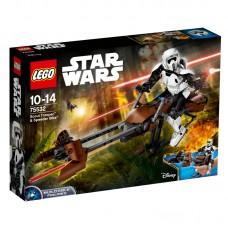 LEGO® Star Wars™ Constraction | Scout Trooper™ ir Speeder Bike™ | 75532