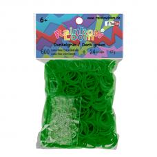 Rainbow Loom® Tamsiai žalios spalvos gumyčių papildymas