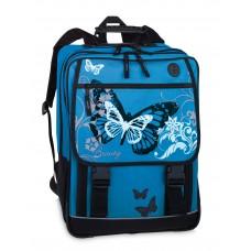 Fabrizio Šviesiai mėlyna kuprinė su drugelių paveiksliuku 10042-2500