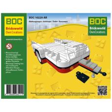LEGO BOC Raudona priekaba 10220-AR - LEGO VW T1 10220 Volkswagen modeliui