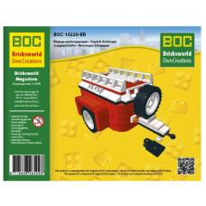 LEGO BOC Raudona priekaba su ratu 10220-BR  - LEGO VW T1 10220 Volkswagen modeliui