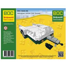 LEGO BOC Žalia maža priekaba 10242-BG - LEGO 10242 MINI Cooper modeliui
