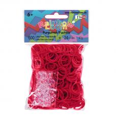Rainbow Loom® Tamsiai rožinės spalvos gumyčių papildymas