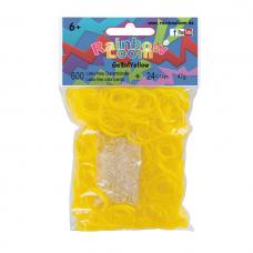 Rainbow Loom® Šviesiai geltonos spalvos gumyčių papildymas