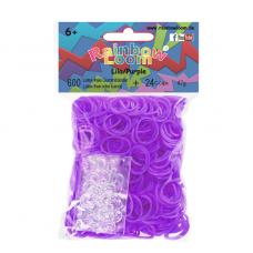 Rainbow Loom® Violetinės spalvos gumyčių papildymas