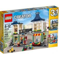 LEGO Creator Žaislų parduotuvė ir bakalėja 31036