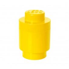 LEGO Apvali dėžė detalėms (Geltona 1)