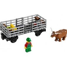 LEGO City Gyvūnų gabenimo vagonas iš rinkinio 60052