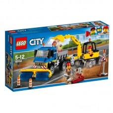 LEGO City Kelių valymo sunkvežimis ir ekskavatorius 60152