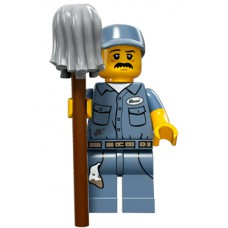 LEGO Minifigūrėlė 71011-9: Janitor