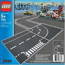 LEGO City T formos sankryža ir kelio vingis 7281