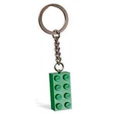LEGO Raktų pakabukas Žalia kaladėlė 852096