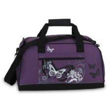 Fabrizio Violetinis sportinis krepšys su drugelių paveiksliuku 10048-1900