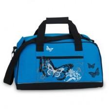 Fabrizio Šviesiai mėlynas sportinis krepšys su drugelių paveiksliuku 10048-2500