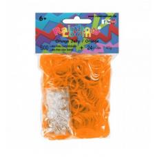 Rainbow Loom® Permatomos oranžinės spalvos gumyčių papildymas