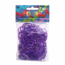 Rainbow Loom® Violetinės metalo spalvos gumyčių papildymas