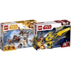LEGO Star Wars I Anakin's Jedi Starfighter | 75214 + Cloud-Rider Swoop Dviračiai | 75215